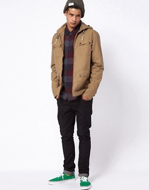 Image 4 ofVans California Jacket Carlsbad Detatchable Hooded Military