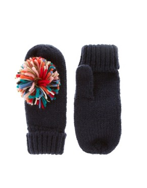Image 1 ofASOS Multi Pom Pom Mitten