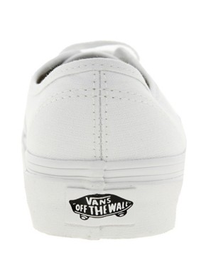 Image 3 ofVans Authentic Classic White Lace Up Trainers