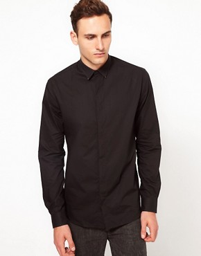 Image 1 ofIro Plain Shirt with Distressed Collar Tips