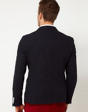 Image 2 ofASOS Slim Fit Double Breasted Blazer