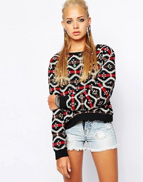 Glamorous Embroidered Jumper