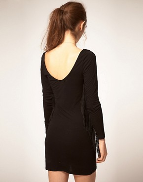 Image 2 ofPepe Jeans Dress With Fringed Sleeves