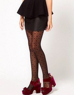 Image 1 ofGipsy Hearts &amp; Spots Sheer Tights