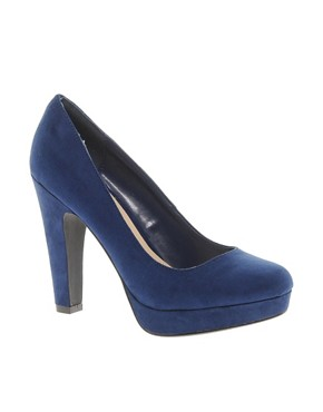 Image 1 of New Look Tuneys Blue Platform Court Shoes