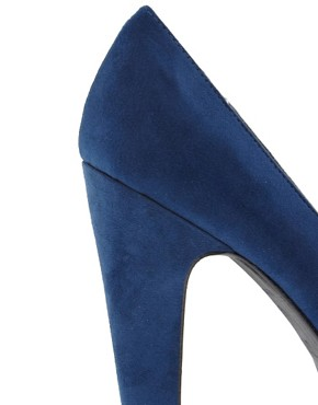 Image 2 of New Look Tuneys Blue Platform Court Shoes