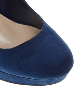 Image 4 of New Look Tuneys Blue Platform Court Shoes