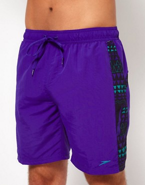 Image 1 ofSpeedo Infinity Pool Splice Check 18&quot; Swim Short