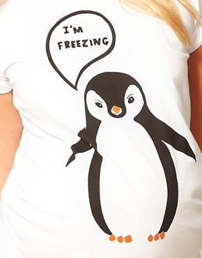 Image 3 of ASOS Maternity I'm Freezing T-Shirt