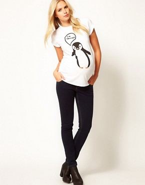 Image 4 of ASOS Maternity I'm Freezing T-Shirt