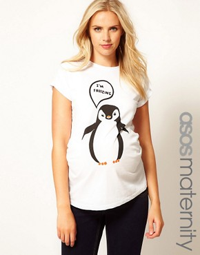 Image 1 of ASOS Maternity I'm Freezing T-Shirt