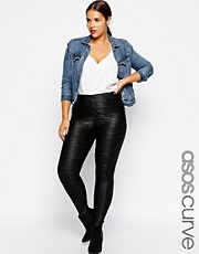 ASOS CURVE Pleated Leggings