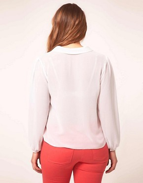 Image 2 ofASOS CURVE Blouse With Pleats