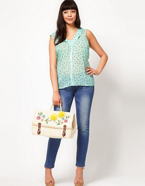 Image 4 ofASOS CURVE Chiffon Blouse In Spot Print