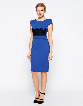 Jessica Wright Ivy Pencil Dress With Crochet Detail