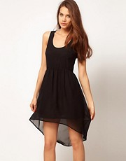 ASOS Chiffon Dress with High Low Hem
