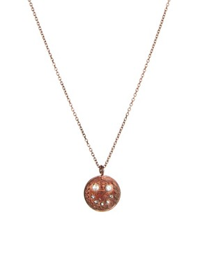Image 1 ofHusam El Odeh Exclusive To ASOS Smiley Coin Necklace