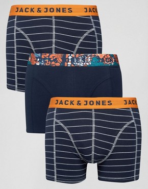 Jack & Jones Trunks 3 Pack Stripe
