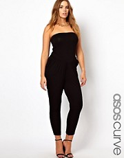 ASOS CURVE Exclusive Bandeau Jumpsuit