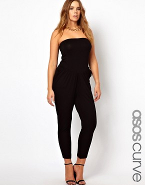 Image 1 ofASOS CURVE Exclusive Bandeau Jumpsuit