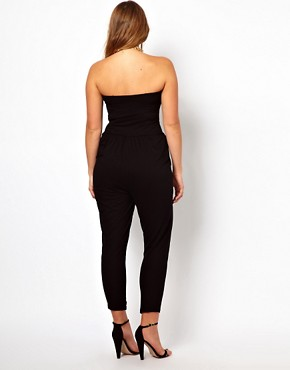 Image 2 ofASOS CURVE Exclusive Bandeau Jumpsuit
