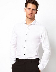 ASOS Smart Shirt With Contrast Buttons