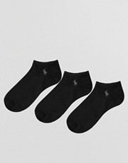 Polo Ralph Lauren 3 Pack No Show Socks