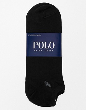 Image 3 ofPolo Ralph Lauren 3 Pack No Show Socks