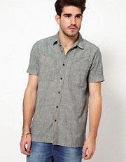 Nudie Shirt Ellis Short Sleeve Chambray
