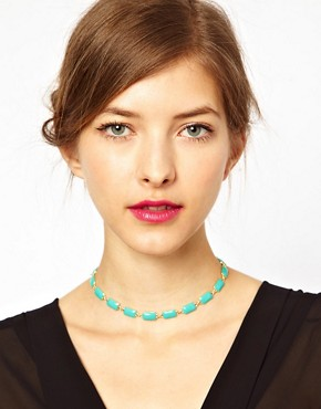 Image 3 of ASOS Rectangle Choker Necklace