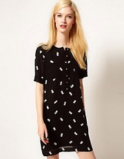 Whistles Domino Print Dress