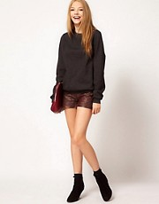 Pepe Quilted Leather Shorts