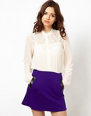 River Island Chelsea Girl Lace Yoke Shirt