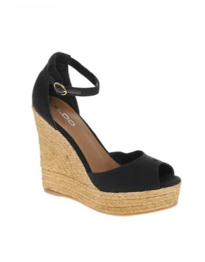 Image 1 ofALDO Lovin Espadrille Wedge Sandals