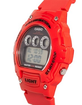 Bild 3 von Casio  W-214HC-4AVEF  Rote Digitalarmbanduhr