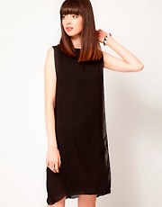 Cheap Monday Dress With Sheer Layers
