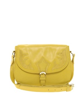 Image 1 ofASOS Leather Suede Insert Satchel