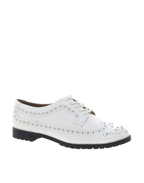 Image 1 ofRiver Island Studded White Brogues