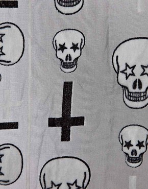 Image 2 ofRiver Island Devore Skull Scarf