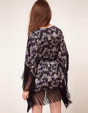 Image 2 ofPepe Jeans Kimono With Fringed Edges