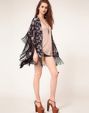 Image 4 ofPepe Jeans Kimono With Fringed Edges
