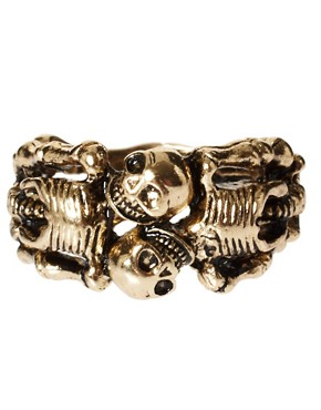 Image 2 ofASOS Lovers Skeleton Ring