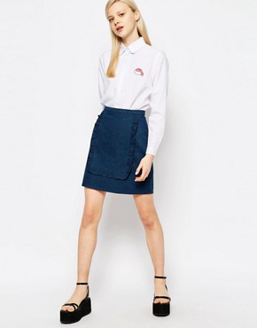 The WhitePepper Ruffle Panel Mini Skirt