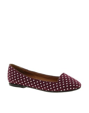 Image 1 ofNew Look Jot Polka Dot Red Slipper Shoes