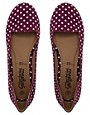 Image 2 ofNew Look Jot Polka Dot Red Slipper Shoes