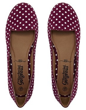 Image 2 of New Look Jot Polka Dot Red Slipper Shoes