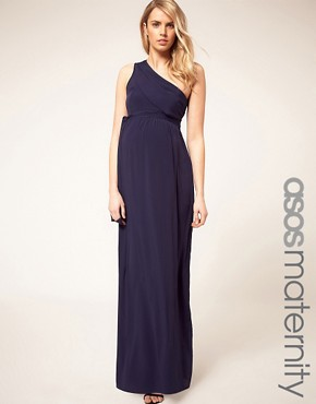 Image 1 ofASOS Maternity Exclusive One Shoulder Maxi Dress