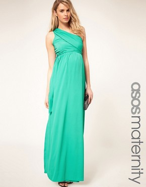 Image 1 of ASOS Maternity Exclusive One Shoulder Maxi Dress