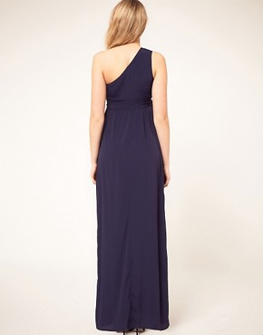 Image 2 ofASOS Maternity Exclusive One Shoulder Maxi Dress