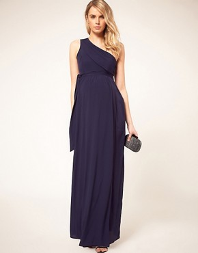 Image 4 ofASOS Maternity Exclusive One Shoulder Maxi Dress